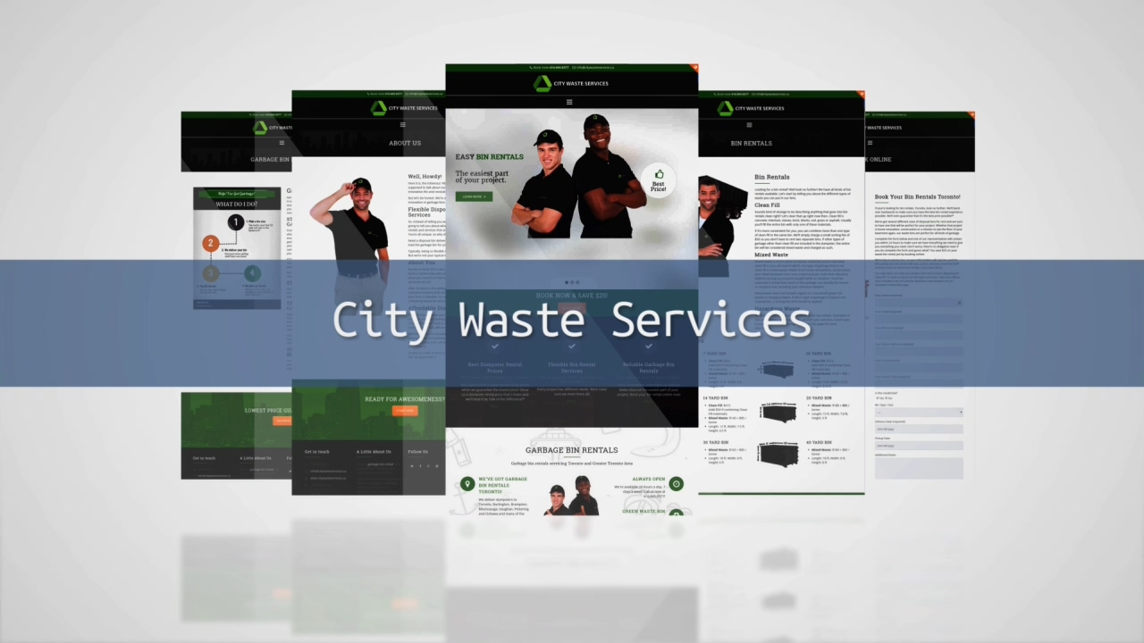 City Waste Services Website Launch Video