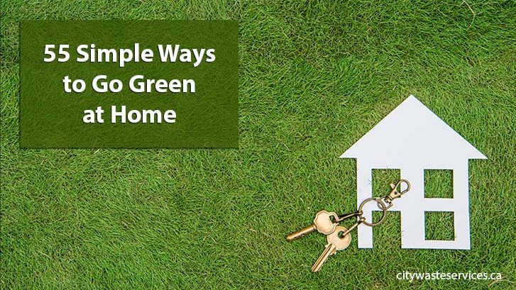 55 Simple Ways to Go Green at Home