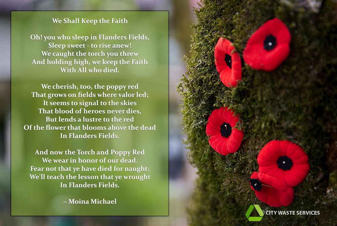 Remembrance Day - We Shall Keep The Faith